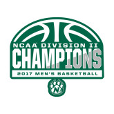 Medium Decal-NCAA Division II Mens Basketball Champions - Half Ball