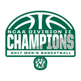 Large Decal-NCAA Division II Mens Basketball Champions - Half Ball