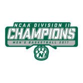 Large Decal-NCAA Division II Mens Basketball Champions - Stencil