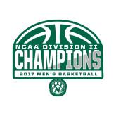 Small Decal-NCAA Division II Mens Basketball Champions - Half Ball