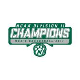 Small Decal-NCAA Division II Mens Basketball Champions - Stencil