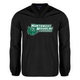 V Neck Black Raglan Windshirt-Northwest Missouri Bearcats w/ Cat