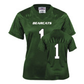 Ladies Dark Green Replica Football Jersey-#1