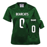 Ladies Dark Green Replica Football Jersey-Official Logo