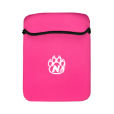 Neoprene Flap Closure Pink iPad Sleeve-Official Logo