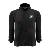 Fleece Full Zip Black Jacket-N