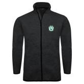 Black Heather Fleece Jacket-Official Logo