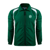Colorblock Forest Green/White Wind Jacket-Official Logo