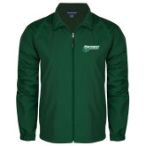 Colorblock Forest Green/White Wind Jacket-Northwest Bearcats w/ Cat