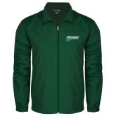 Full Zip Dark Green Wind Jacket-Northwest Bearcats w/ Cat