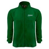 Fleece Full Zip Dark Green Jacket-Northwest Bearcats w/ Cat