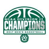 Large Magnet-NCAA Division II Mens Basketball Champions - Half Ball