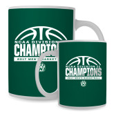 Full Color White Mug 15oz-NCAA Division II Mens Basketball Champions - Half Ball