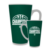 Full Color Latte Mug 17oz-NCAA Division II Mens Basketball Champions - Half Ball
