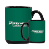 Full Color Black Mug 15oz-Northwest Bearcats
