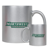 11oz Silver Metallic Ceramic Mug-Northwest Bearcats