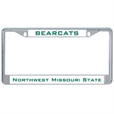 Metal License Plate Frame in Chrome-Bearcats