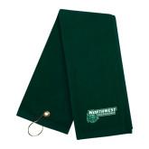 Dark Green Golf Towel-Northwest Bearcats w/ Cat