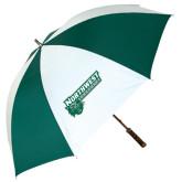 62 Inch Forest Green/White Umbrella-Northwest Bearcats w/ Cat