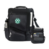 Momentum Black Computer Messenger Bag-Official Logo