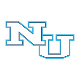 Medium Decal-NU Athletic Mark, 8 inches wide