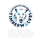 Dad Decal-Dad with Athletic Mark, 6 inches tall