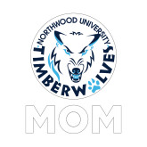Mom Decal-Mom with Athletic Mark, 6 inches tall