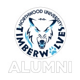 Alumni Decal-Alumni with Athletic Mark, 6 inches tall