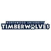 Extra Large Decal-Northwood University Timberwolves Wordmark, 18 inches wide