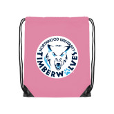 Light Pink Drawstring Backpack-Primary Athletic Mark