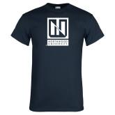 Navy T Shirt-Institutional Mark Vertical