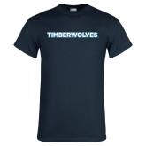 Navy T Shirt-Timberwolves
