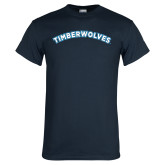 Navy T Shirt-Timberwolves Arched