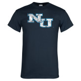 Navy T Shirt-NU Athletic Mark Distressed
