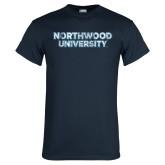 Navy T Shirt-Northwood University Distressed
