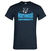 Navy T Shirt-Timberwolf Head over Northwood University