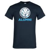 Navy T Shirt-Alumni with Athletic Mark