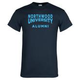 Navy T Shirt-Alumni with Northwood University Arched