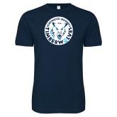 Next Level SoftStyle Navy T Shirt-Primary Athletic Mark