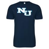 Next Level SoftStyle Navy T Shirt-NU Athletic Mark