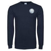 Navy Long Sleeve T Shirt-Primary Athletic Mark