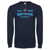 Navy Long Sleeve T Shirt-Established Date