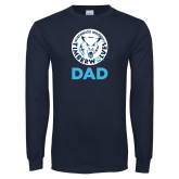 Navy Long Sleeve T Shirt-Dad with Athletic Mark