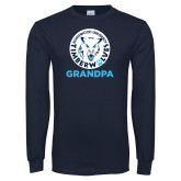 Navy Long Sleeve T Shirt-Grandpa with Athletic Mark