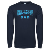Navy Long Sleeve T Shirt-Dad with Northwood University Arched