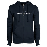 ENZA Ladies Navy Fleece Full Zip Hoodie-True North