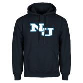 Navy Fleece Hoodie-NU Athletic Mark