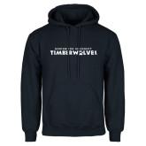 Navy Fleece Hoodie-Northwood University Timberwolves Wordmark