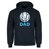 Navy Fleece Hoodie-Dad with Athletic Mark