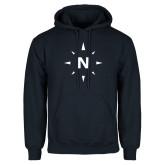 Navy Fleece Hoodie-North Compass